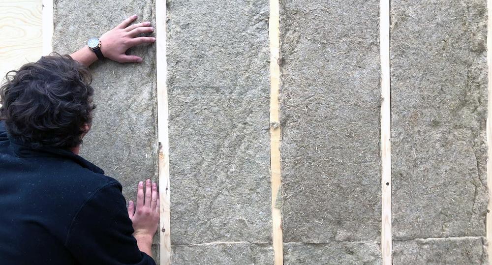 Panneau Naturchanvre, utilisé pour l'isolation des murs, toits et planchers