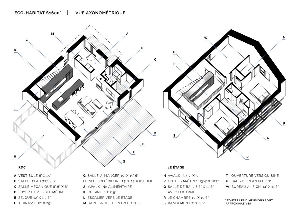 Eco Habitat S1600 Maisons Ecologique Cle En Main Prefabriquee En Kit Ecohabitation